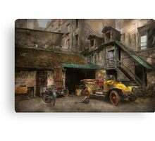 Car - Cour, Rue de Valencemm France - A Sunday afternoon - 1925 Canvas Print