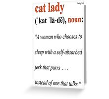 Definition Of CAT LADY Greeting Card
