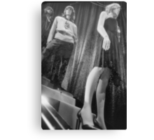 Shop dummy female mannequins black and white 35mm analog film photo Canvas Print