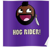 hog rider clash of clans Poster