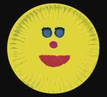 Paper Plate Painted Happy Face Baby Tee