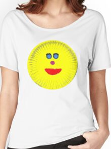 Paper Plate Painted Happy Face Women's Relaxed Fit T-Shirt
