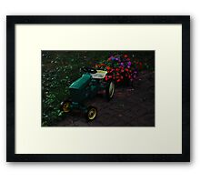 a little John Deere  on my front walk Framed Print