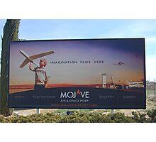 Mojave space port Photographic Print