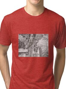 Kitty in the brush Tri-blend T-Shirt