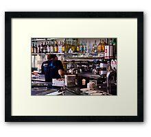 Italian Barista Framed Print