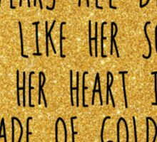Gold Heart Sticker