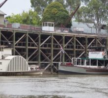 Historic inland port of Echuca, Australia Sticker