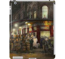 City - NY - Washington Street Market, buying at night - 1952 iPad Case/Skin