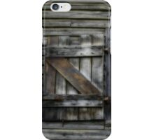 Window of 19th Century Wool and Apple Packing Shed iPhone Case/Skin