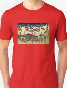 'Hodogaya on the Tokaido' by Katsushika Hokusai (Reproduction) T-Shirt