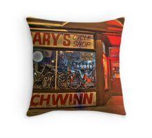 Gary's Cycle Shop Throw Pillow