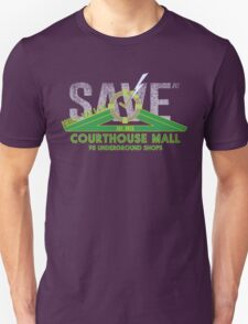 SAVE at the Hill Valley Courthouse Mall Unisex T-Shirt