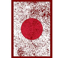 Grunge Japanese Flag Photographic Print