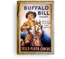 Antique Buffalo Bill Poster Canvas Print