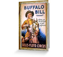Antique Buffalo Bill Poster Greeting Card