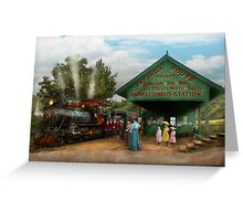 Train - Haines Corners - Catskill Mountains - NY - Waiting for departure - 1902 Greeting Card