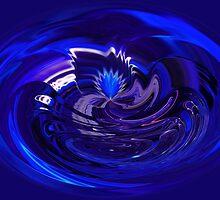 Ice Blue Fan by DeMello