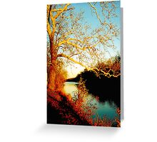 Fall at the River Greeting Card