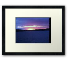 Twilight Over  Lake CatchaComa-Available As Art Prints-Mugs,Cases,Duvets,T Shirts,Stickers,etc Framed Print