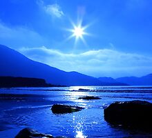 Beach In Blue by aidan  moran