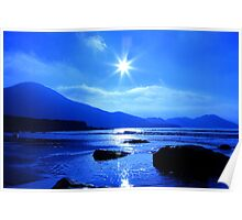 Beach In Blue Poster