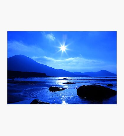 Beach In Blue Photographic Print