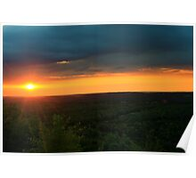 Sunset on the Bluff Poster