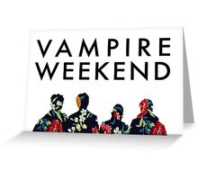 Vampire Weekend Silhouettes  Greeting Card