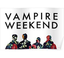 Vampire Weekend Silhouettes  Poster