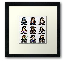 8-bit 80s Action Movies Framed Print