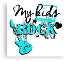 my kids rock Canvas Print