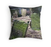The Old Jewish cemetery in Josefov, the former Jewish ghetto of Prague Throw Pillow