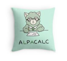 Alpacalc Throw Pillow