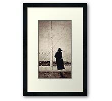 black day bay (a random lady wearing black socks and black everything at the beach) Framed Print