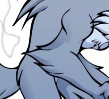 Cute werewolf Sticker