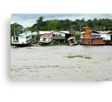 Houseboats in Manaus Canvas Print