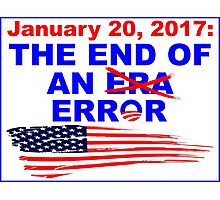 End of an error sticker Photographic Print
