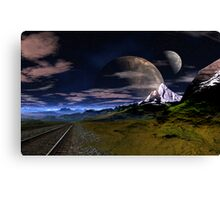 Track to Blue Lake Canvas Print