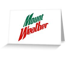 Mount Weather/Dew Greeting Card