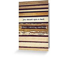Open A Book Greeting Card