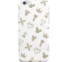 Golden Kingdom Hearts Symbols iPhone Case/Skin