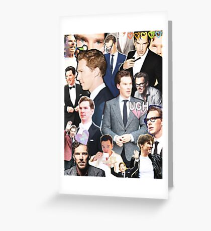 benedict cumberbatch collage Greeting Card