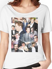 benedict cumberbatch collage Women's Relaxed Fit T-Shirt