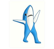 Super Bowl Shark 2 Art Print