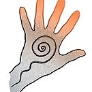 Spiral Hand for Duvets, covers, journals and bags. by Leonie Mac Lean