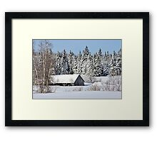 Lost to the Snow Framed Print