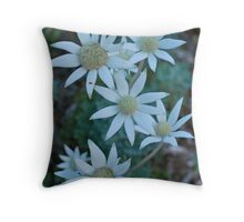 Fabulous Flannel Flowers Throw Pillow