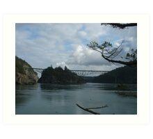 Deception Pass Bridge Art Print