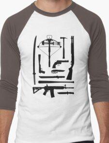 The Walking Dead Weapons Men's Baseball ¾ T-Shirt